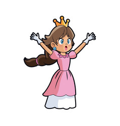 Beautiful princess fairy tale fantasy dress vector