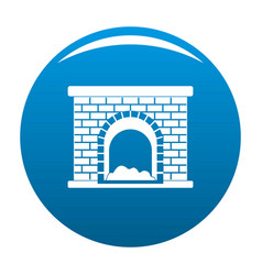 brick fireplace icon blue vector image