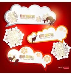 Christmas Sticker Tags vector image
