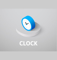 clock isometric icon isolated on color background vector image