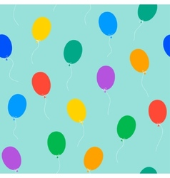 colored balloons seamless pattern vector image vector image