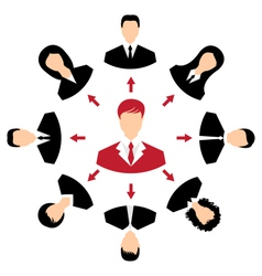 concept of leadership community business people vector image