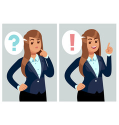 confused woman young thinking girl student with vector image