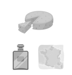 country france monochrome icons in set collection vector image