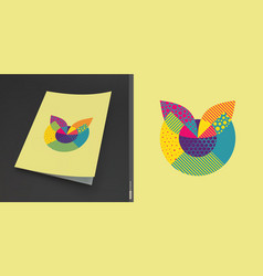 cover design template abstract colorful geometric vector image