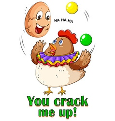 Cracking egg vector image