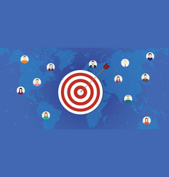 Customer target business company target with dart vector
