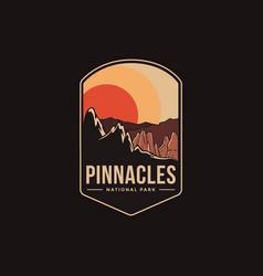 emblem patch logo pinnacles national park vector image