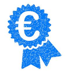 Euro warranty seal grunge icon vector