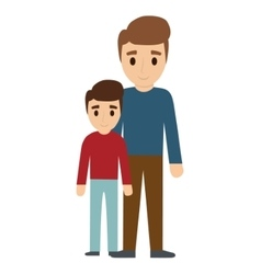 Father and son family design vector
