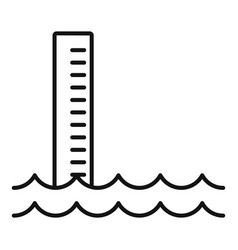 Flood water icon outline style vector