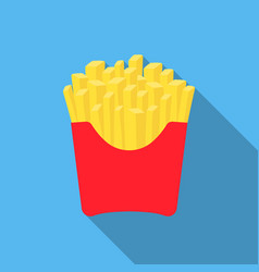 french fries icon in flat style for web vector image