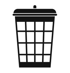 garbage basket icon simple style vector image