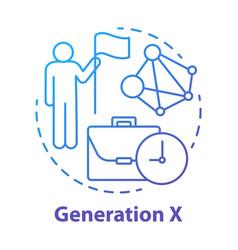 Generation x concept icon age group idea thin vector