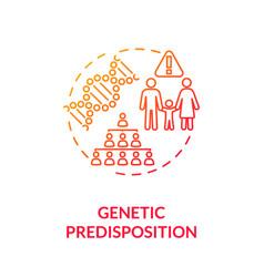 Genetic predisposition concept icon vector
