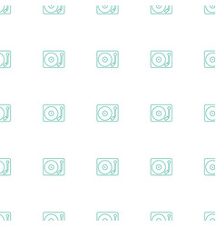 gramophone icon pattern seamless white background vector image