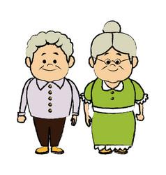 Grandpa and grandma standing lovely image vector