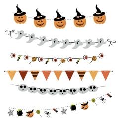 Halloween bunting and garland vector image