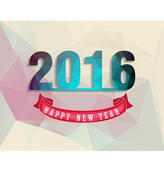 Happy New Year 2016 colorful greeting card in vector
