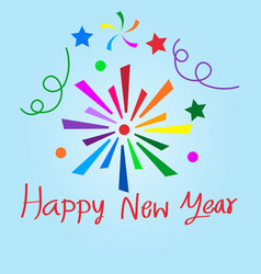 happy new year sign design vector image