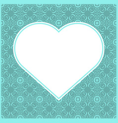Heart shaped frame for valentine card vector