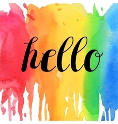 Hello typographic design vector image