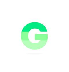 logo letter g green energy battery vector image