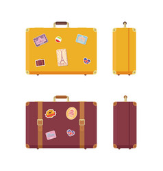 luggage journey and vacation valises set vector image