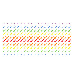 Missile launch shape halftone spectral effect vector