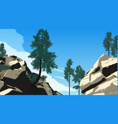 mountain forest landscape vector image