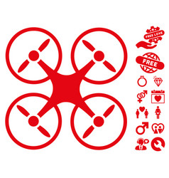 nanocopter icon with dating bonus vector image
