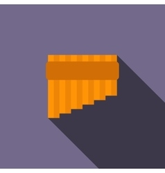 Pan flute icon in flat style vector