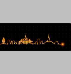 phnom penh light streak skyline vector image