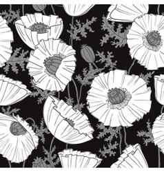 Poppies flower vector