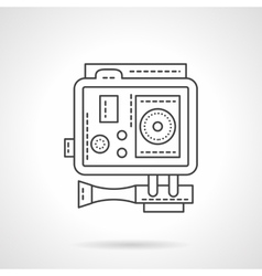 Professional extreme cam flat line icon vector