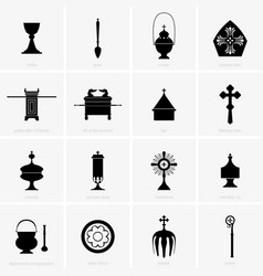 Religious and mass items vector