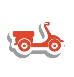 Scooter bike pictogram icon image vector