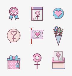 set womens day celebration holiday vector image
