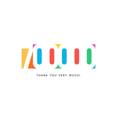 seven hundred thousand subscribers baner colorful vector image