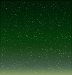 Snow Flakes Falling Against green background vector