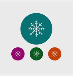snowflake icon simple vector image