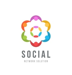 Social network concept Logo design template vector