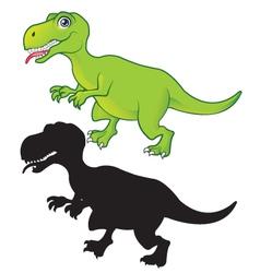 t rex cartoon and silhouette royalty free vector image rh vectorstock com t-rex vector tile t rex vector icon