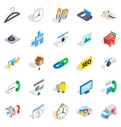 trifle icons set isometric style vector image