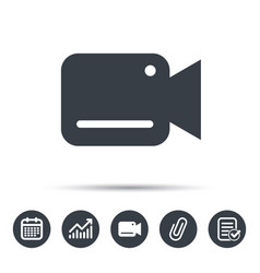 Video camera icon film recording cam symbol vector