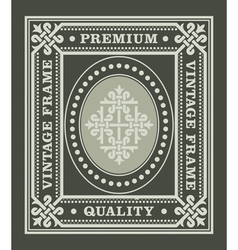 Vintage frame with ornament and decoration element vector image
