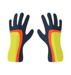 Water gloves cartoon vector