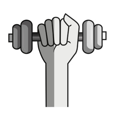 Weight lifting gym isolated icon vector