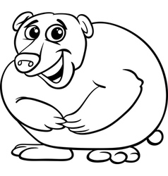 bear animal cartoon coloring book vector image vector image