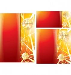 disco templates vector image